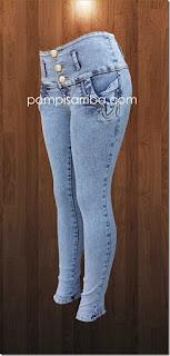 Pantalon de mezclilla Pantalones mezclilla Jeans de mujer ...