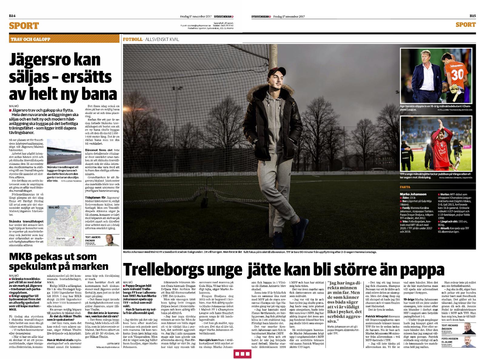 e8985213b1a Nu kan Marko Johansson spela upp TFF – också som målvakt. Han är bara en ny  nolla på söndag från allsvenskt spel efter 2–0 hemma mot Jönköping.