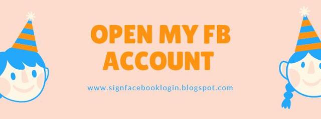 Open My Fb Account