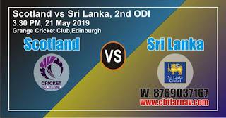 SL vs SCO 2nd ODI Match Prediction Today Who Will Win Dream 11
