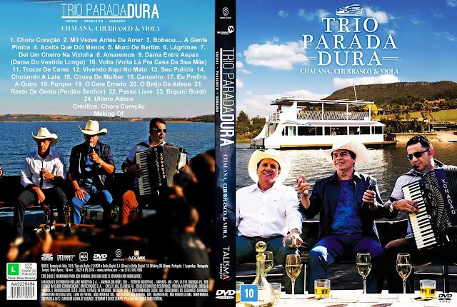 Capa DVD Trio Parada Dura Chalana, Churrasco e Viola