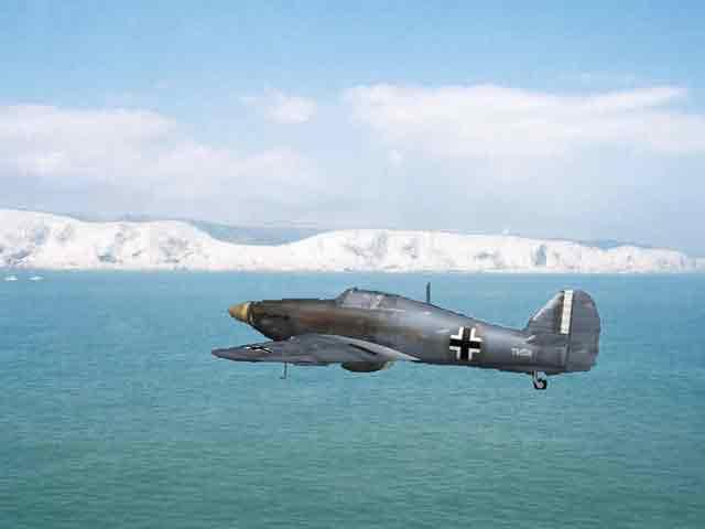 Captured Hawker Hurricane in German markings, 18 October 1941 worldwartwo.filminspector.com