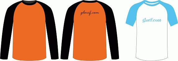 Download Gratis Template Kaos Lengan Panjang dan Pendek