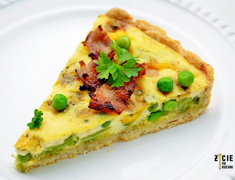 tarta, wytrawna tarta, tarta wytrawna, zielony groszek, bob, mrozony groszek, mrozonki poltino, bob poltino, jak zrobc tarte, zycie od kuchni