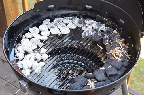 kettle grill indirect set up, fuse burn, Char-Broil Kettleman grill