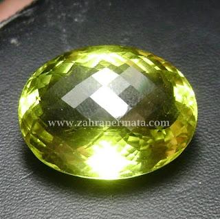 Batu Permata Lemon Quartz - ZP 433
