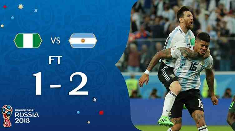 Hasil Nigeria vs Argentina Skor Akhir 1-2 | Fase Group D World Cup 2018