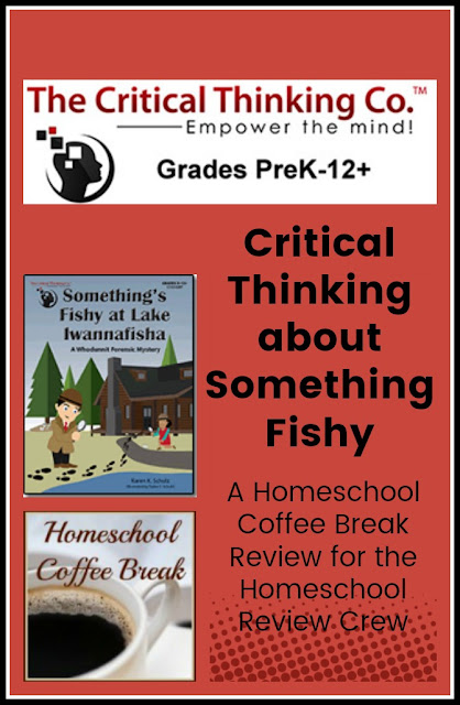 Critical Thinking About Something Fishy - A Homeschool Coffee Break Review @ kympossibleblog.blogspot.com - We review Something's Fishy at Lake Iwannafisha from The Critical Thinking Co. for the Homeschool Review Crew