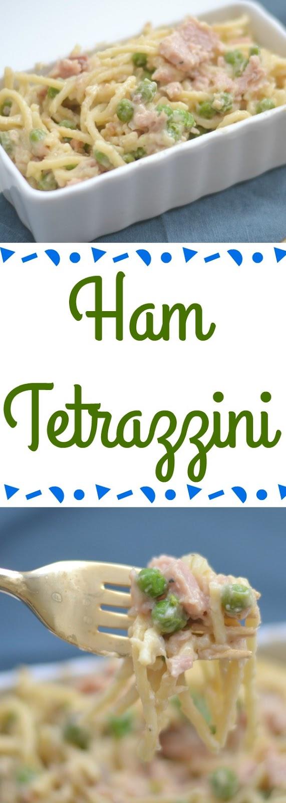 Ham Tetrazzini, Ham Tetrazzini recipe, easy Ham Tetrazzini recipe, recipe using leftover ham, leftover ham, recipe using ham, pasta recipe, one skillet meal, one pot meal, easy dinner recipes, dinner recipes with peas