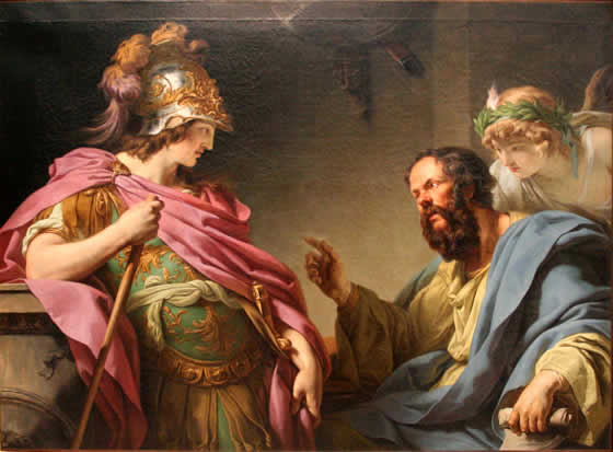 Alcibiades being taught by Socrates