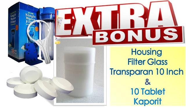 ekstra bonus housing filter dan tablet kaporit