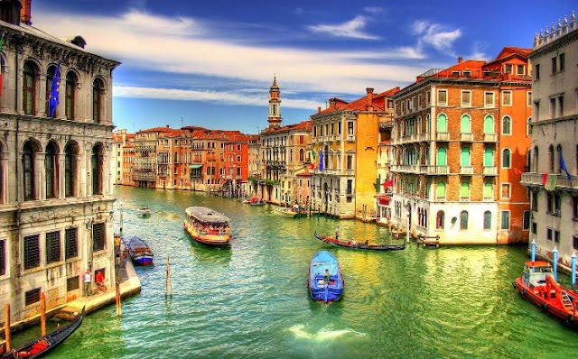Pontos turísticos em Veneza