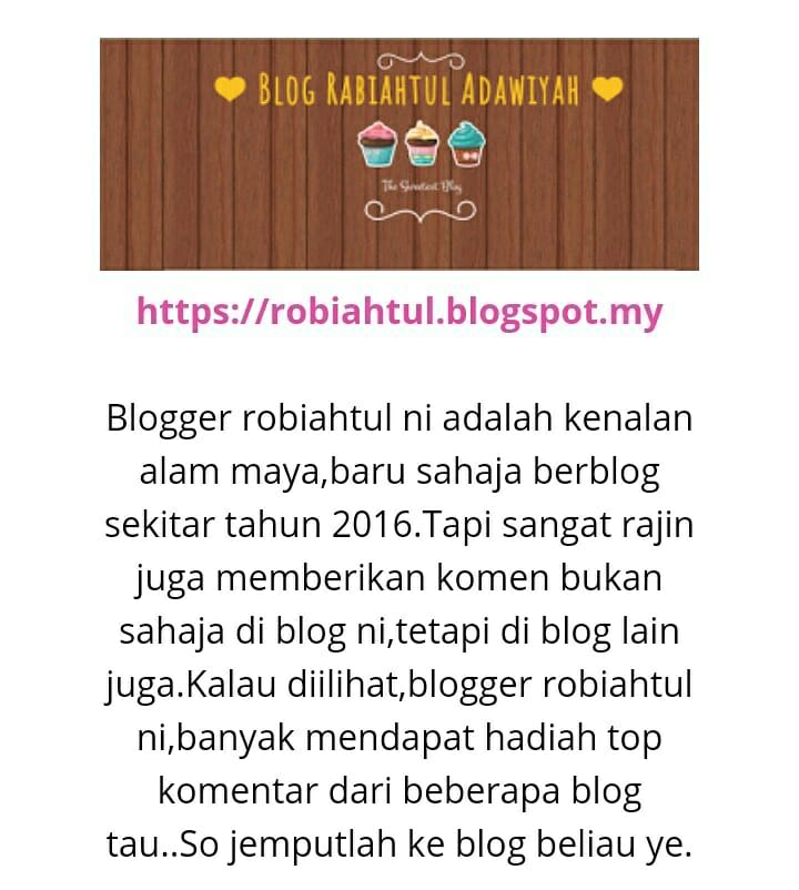 Top komen blog kisahsidairy