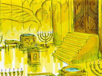 an illustration provided by freebibleimages.org of the The Most Holpy Place Inside Solomon's Temple, which is where the Antichrist will place the abomination of desolation in the third Jewish temple