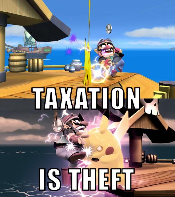 Taxation is Theft meme Pikachu Wario Super Smash Bros. For Wii U Final Smash coin mode Pirate Ship Pokémon Nintendo