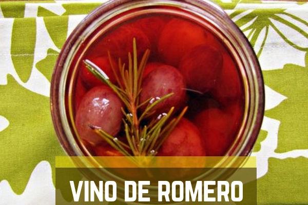 Receta de Vino de Romero, aquí te lo explicamos como hacerlo.