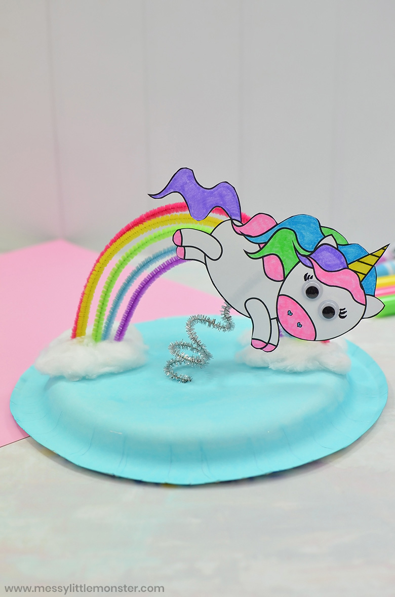 flying unicorn craft for preschoolers