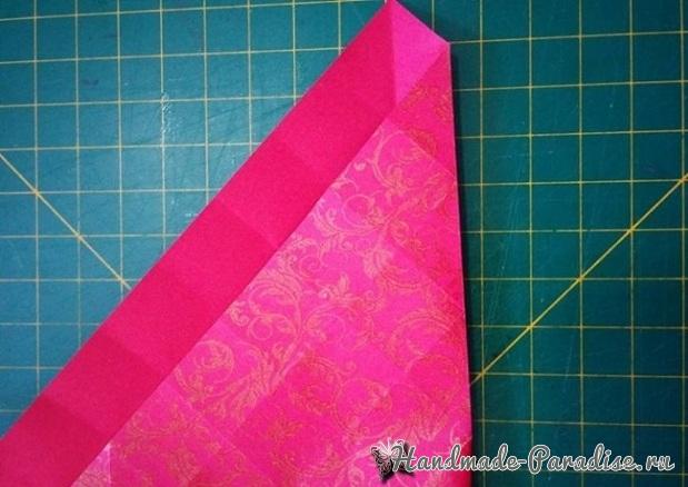 Коробочка РОЗА из бумаги в технике оригами. Мастер-класс (13)