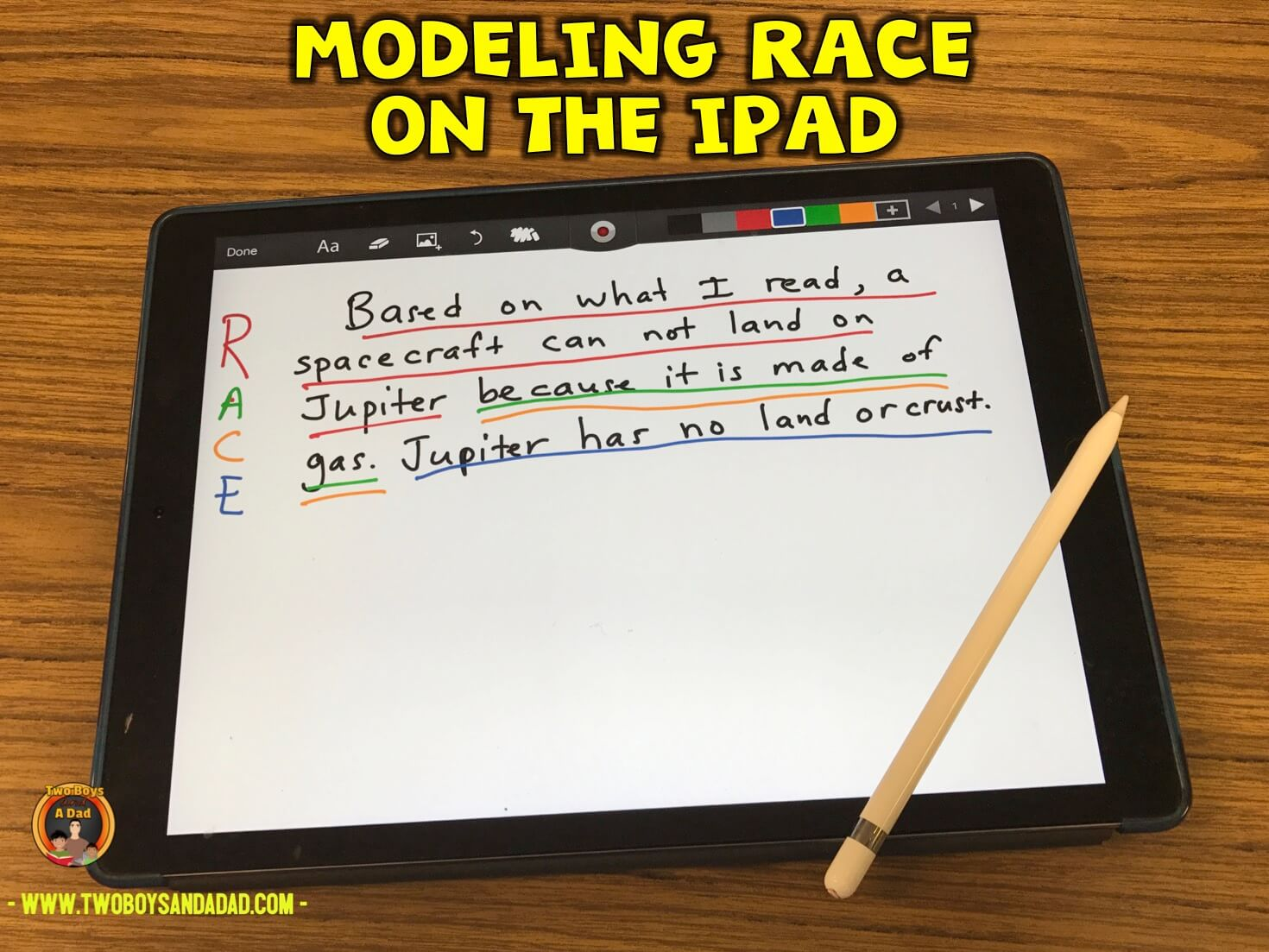 modeling on the iPad during guided reading
