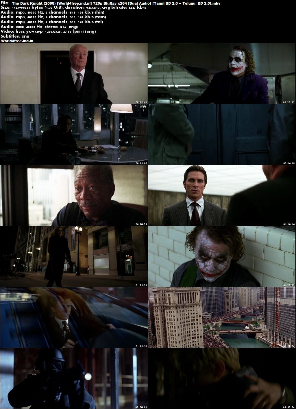 The Dark Knight 2008 world4free.ind.in Dual Audio BRRip 720p Tamil Telugu