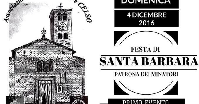FESTA DI SANTA BARBARA PATRONA DEI MINATORI Domenica 4 dicembre Quinto Vercellese