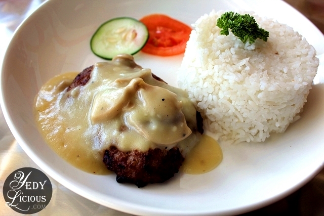BUrger Steak Rice Meal at Not Just Meat Restaurant Antipolo City Rizal