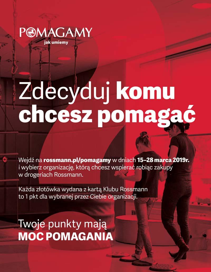 Klub Rossmann 2019 punkty na organizacje charytatywne