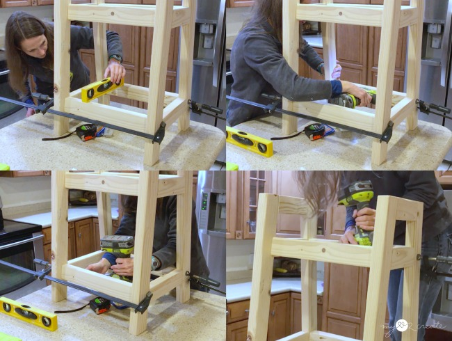 attaching shelf supports to sides