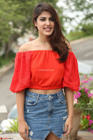 Rhea Chakraborty in Red Crop Top and Denim Shorts Spicy Pics ~  Exclusive 112.JPG