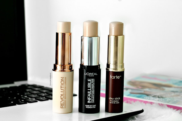 Stick Foundation comparisons L'Oreal Tarte Revolution