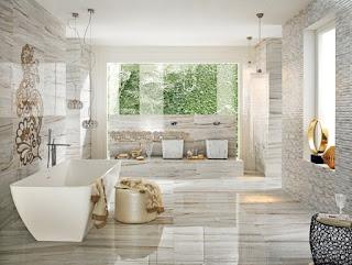 Baño elegante de lujo