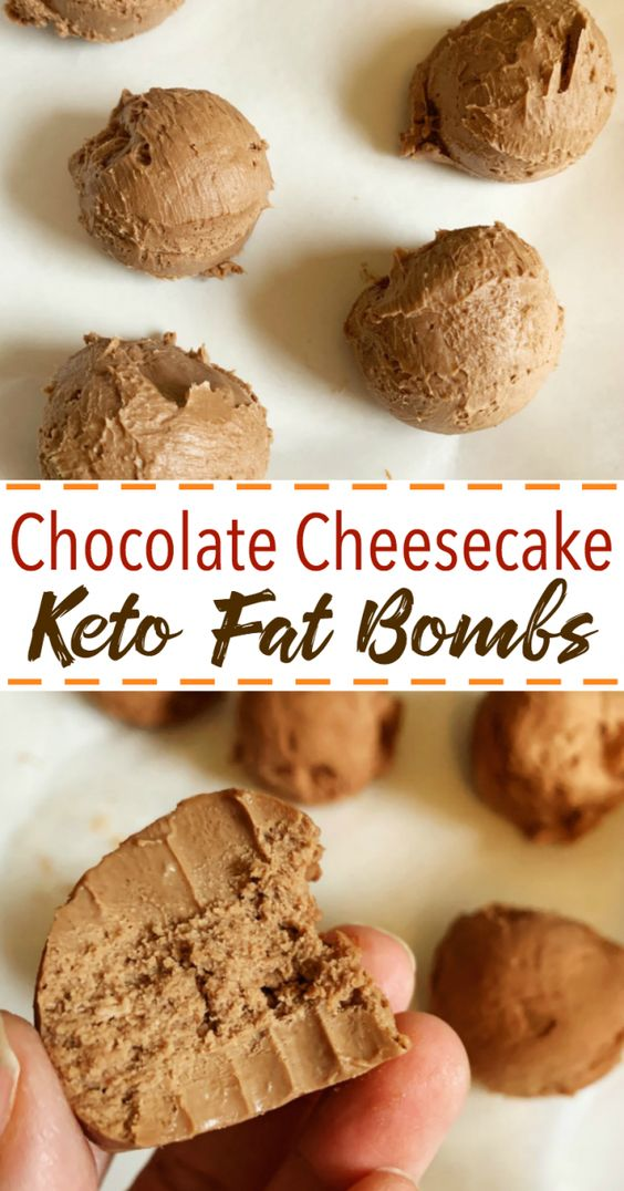 DELICIOUS CHOCOLATE CHEESECAKE KETO FAT BOMBS