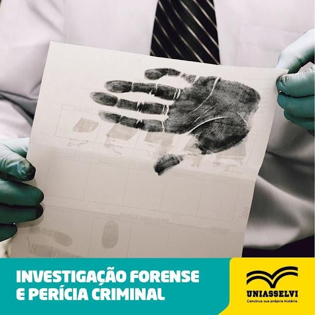 Chegou a sua vez! A UNIASSELVI Polo Camocim está ofertando o Curso Tecnológico em Investigação Forense e Perícia Criminal