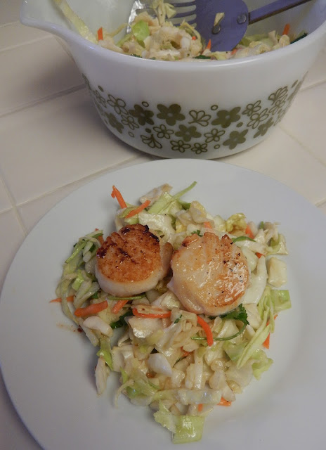Scallops%2Band%2BAsian%2BSlaw Weight Loss Recipes Post Weight Loss Surgery Menus: A day in my pouch