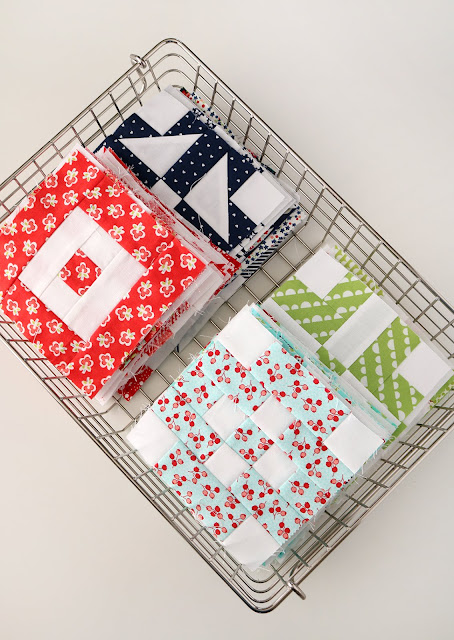 5 inch quilt blocks - so cute!  And there's a free pattern for each block.