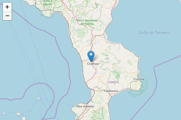 Terremoto Calabria: Oggi Sisma M4,4 in provincia di Cosenza