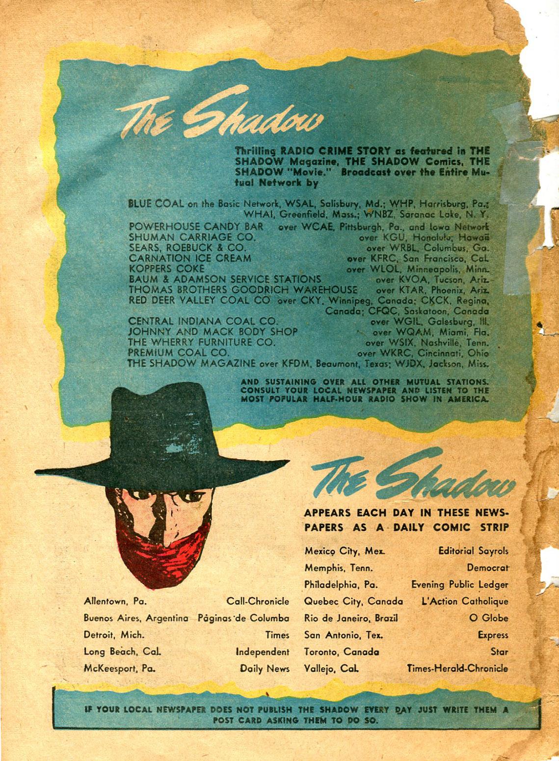 Read online Shadow Comics comic -  Issue #9 - 64