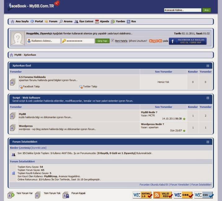 FaceBook-v1 Theme