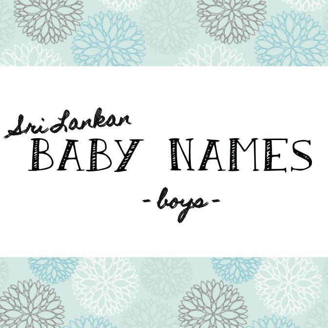 Sri Lankan Baby Names