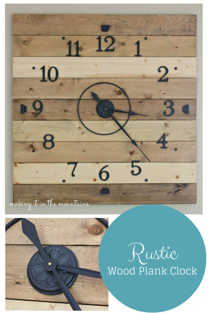 DIY rustic pallet clock