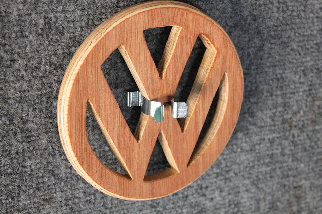 DIY WOODEN VW CAMPERVAN LOGO POT STAND