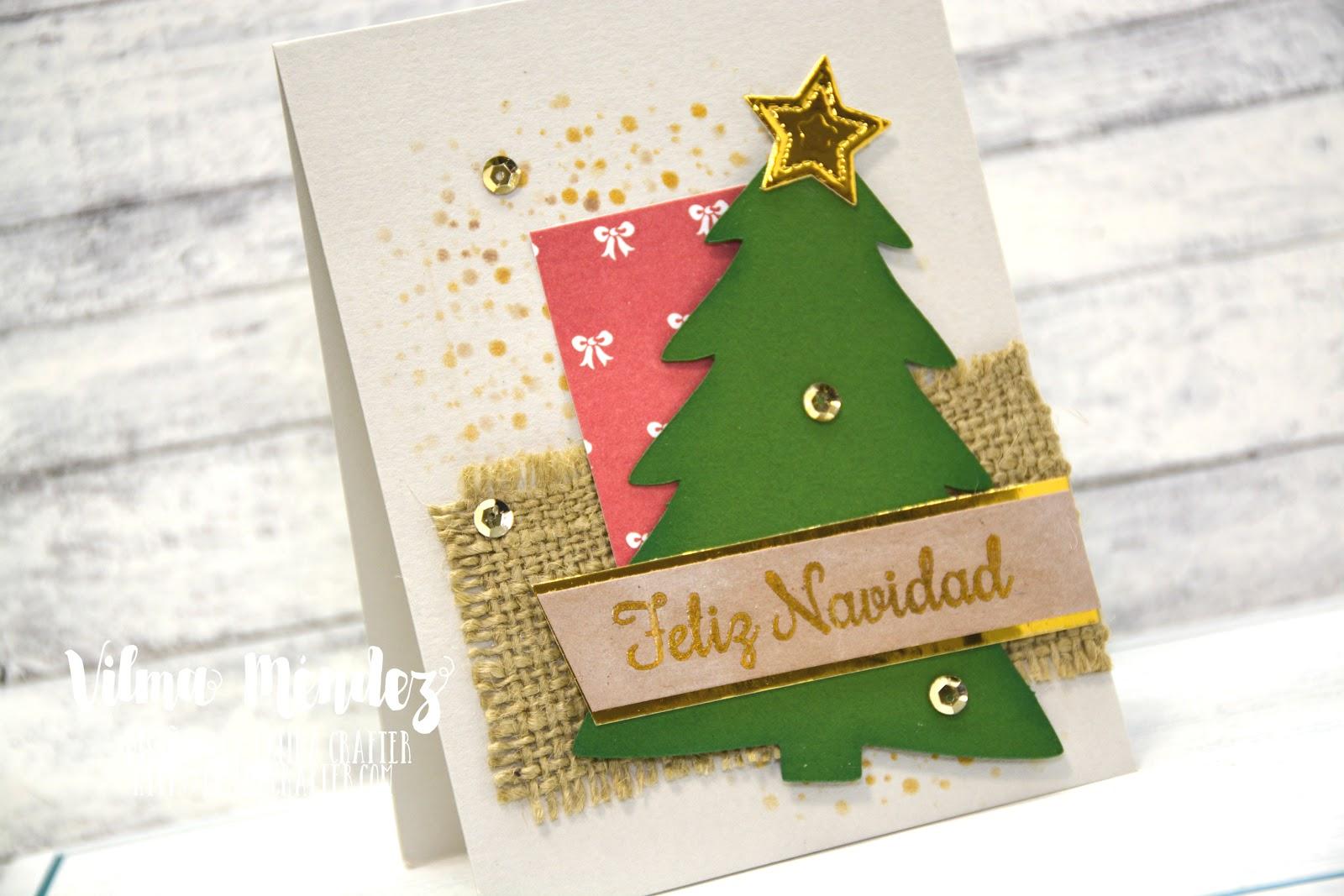 Tarjeta Feliz Navidad Sketch Diciembre Latina Crafter - Crear-tarjetas-de-navidad