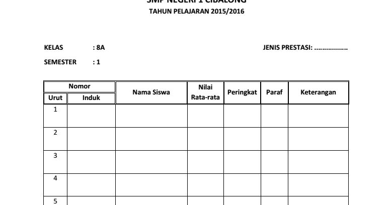 Download Buku Catatan Prestasi Siswa Untuk Sd Smp Sma Download Administrasi Sekolah