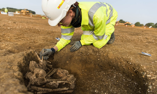Anglo-Saxon settlement and Roman army camp found in A14 bypass dig
