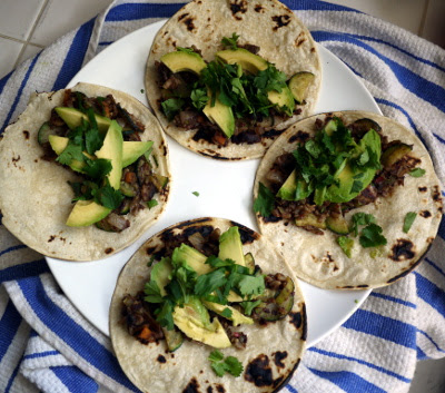 zucchini avocado and black bean tacos