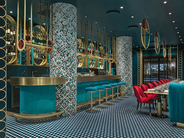 Lion Bar in Rom: italienisches Design in Art Deco Rausch als Wohnidee zum Leben in Farbe; Foto: Matteo Piazza