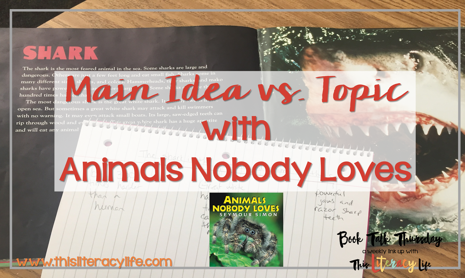 Students think the topic is the main idea, but there is a difference! Get down to the main idea with Animals Nobody Loves!