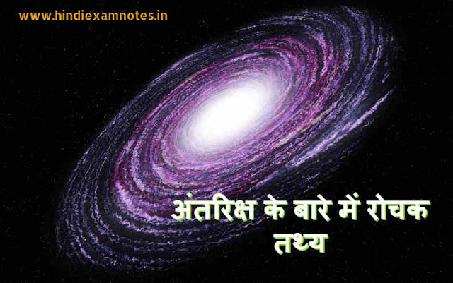 Interesting Facts About Space in Hindi