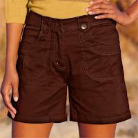 Pantaloni scurti cu croiala dreapta si talie normala
