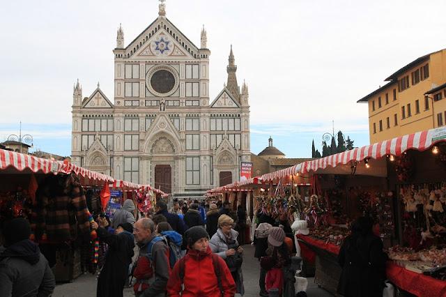 Mercado de Natal Heidelberg na Piazza Santa Croce